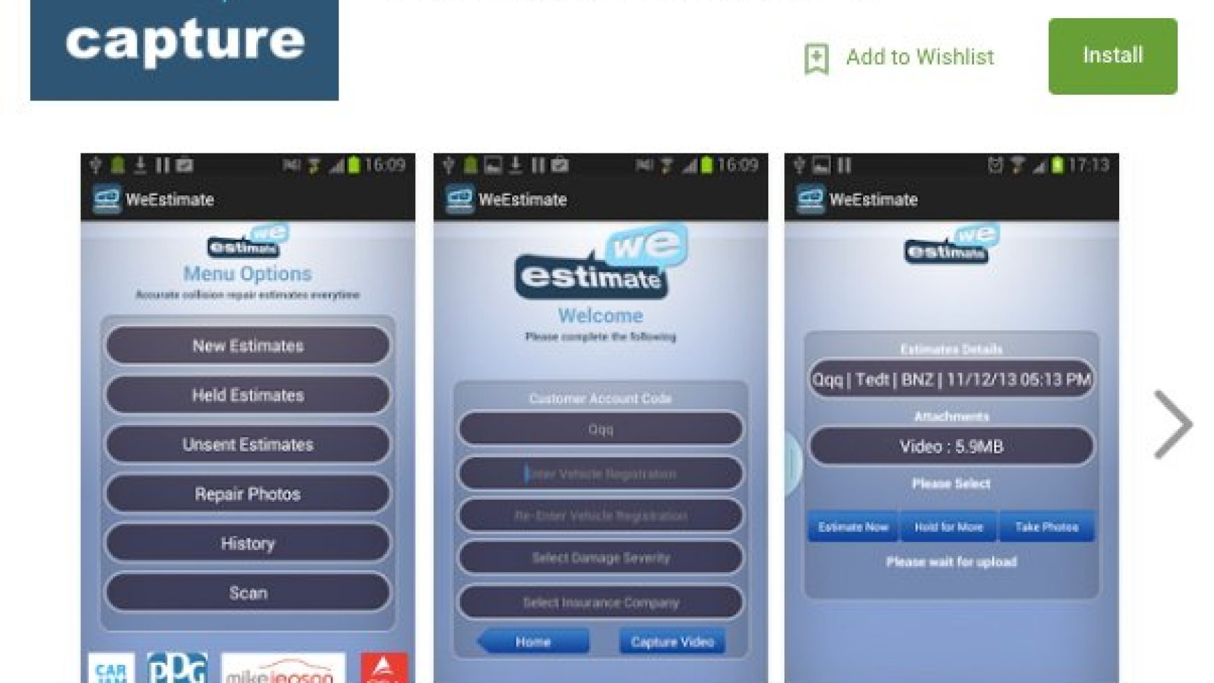 We-Capture Android App Download