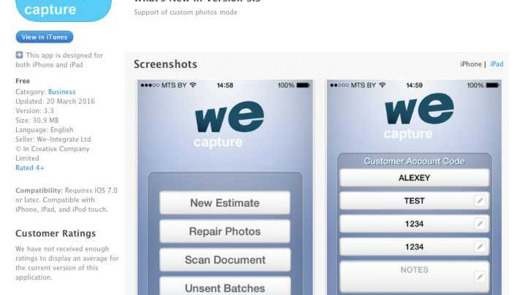 We-Capture Apple App Download